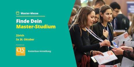 QS Master-Messe Zürich - Alle Infos zum Studium (Eintritt frei) Tickets