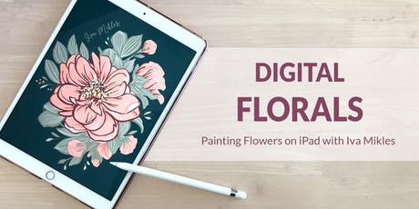 Painting Florals on iPad (+ Terrace, Wine & Tapas) Tickets