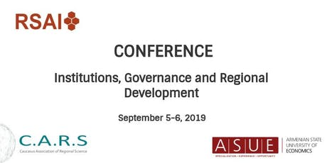 Institutions, Governance and Regional Development tickets