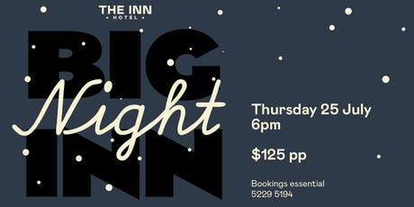 "Tastes of Central Geelong - ""Big Night Inn"" tickets"
