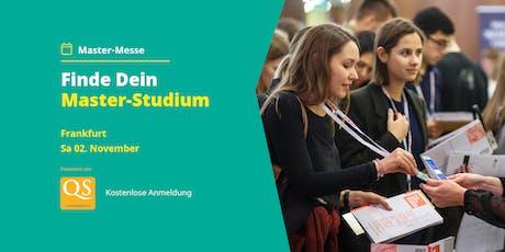 QS Master-Messe Frankfurt - Alle Infos zum Studium (Eintritt frei) Tickets