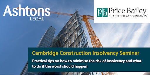 Cambridge Construction Insolvency Seminar