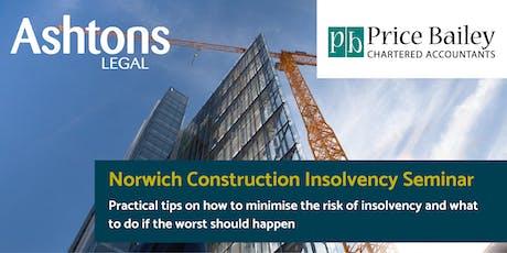 Norwich Construction Insolvency Seminar tickets