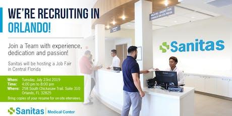 Sanitas Medical Center - Orlando Job Fair tickets