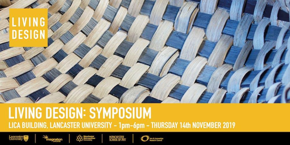 Living Design: Symposium Registration, Thu 14 Nov 2019 at 13