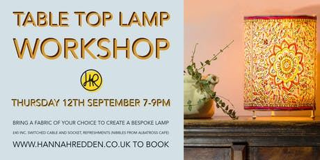 TABLE TOP LAMP Workshop tickets
