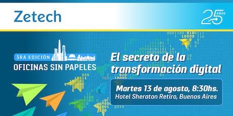 Oficinas sin Papeles: El secreto de la transformación digital | Argentina entradas