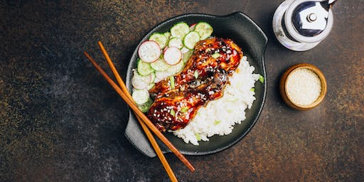 Take Out: Filipino Chicken Adobo with Sweet & Sour Cucumbers and Sticky Rice