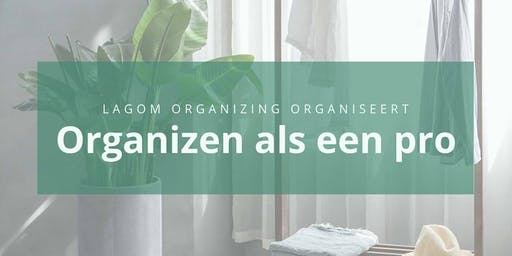 Workshop 'Organizen als een pro'