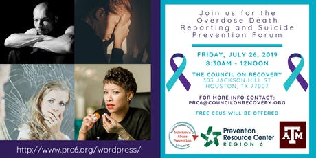 Overdose Death Reporting and Suicide Prevention Forum tickets