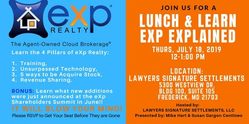 EXP Realty Explained - Lunch& Learn
