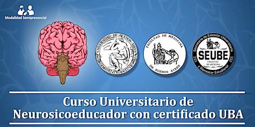 Inicio febrero 2020: Curso Universitario de Neurosicoeducador (UBA)