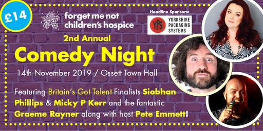 Forget Me Not Comedy Night 2019