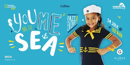 'You, Me & The Sea' at The Glades - Monday 29th July - Multiple Sessions