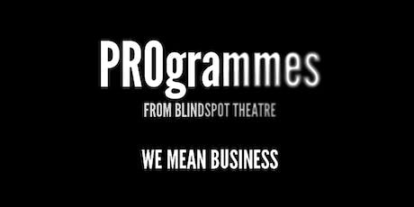 PROgrammes: Business for Theatre Workshop tickets