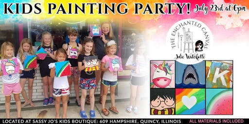 Evening Kids Painting Class at Sassy Jo's Boutique