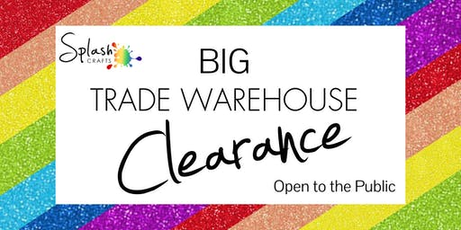 Card Crafting Trade Warehouse Clearance Sale - Open to Public
