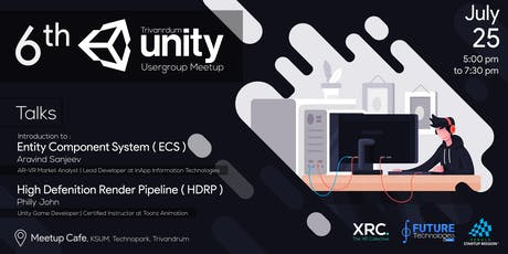 Unity User Group - Trivandrum Meetup, July 2019 tickets