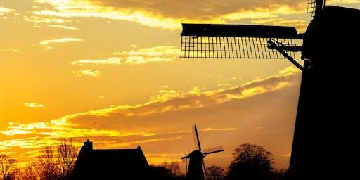 Loenderveense plas: varen bij zonsondergang met bezoek aan molen