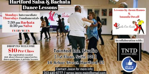 Salsa and Bachata Dance Lessons in Hartford
