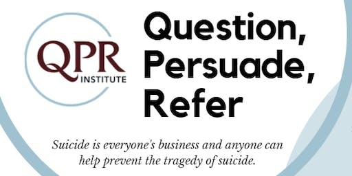 QPR: Suicide Prevention Training for Teachers