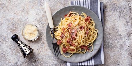 Quick Fix: Creamy Corn & Bacon Pasta with White Wine & Chives tickets