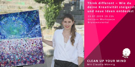 4. Clean up your Mind mit Claudia - Think different Tickets