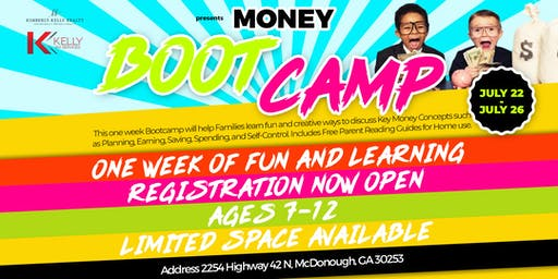 Money as You Grow - Money Boot Camp Georgia - Ages 7-12 6pm