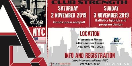 """Rugged Strength Through Torque""Club Strength seminar  NYC tickets"