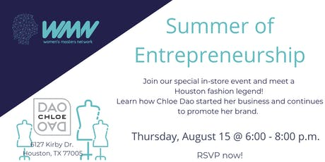 WMN August Networking Event l Summer of Entrepreneurship  tickets