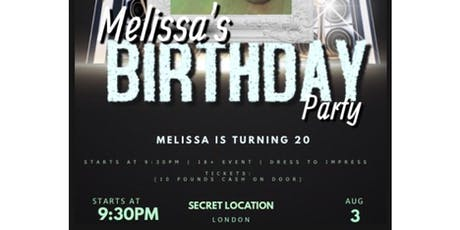 Melissa Carterr's Birthday Party tickets