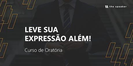 CURSO DE ORATÓRIA: THE SPEAKER - Sábado - Setembro ingressos