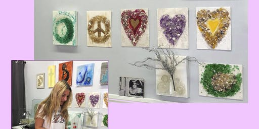 July Shattered Glass Art Class