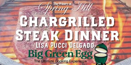 Chargrilled Ribeye Steak Dinner with Chef Lisa Pucci Delgado (8/9) tickets