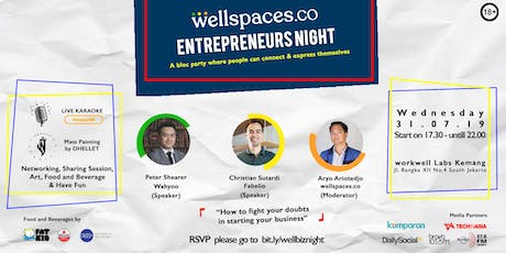 WELLSPACES ENTREPRENEURS NIGHT tickets