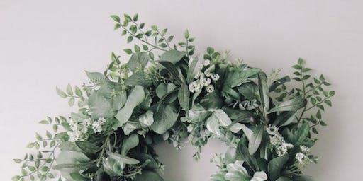Fresh Mixed Eucalyptus wreath workshop