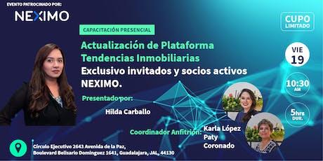 Actualización de la Plataforma, Tendencias Digitales Inmobiliarias (GDL) boletos