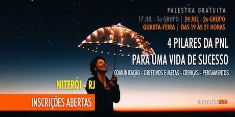PALESTRA GRATUITA - OS 4 PILARES DA PNL PARA UMA VIDA DE SUCESSO ingressos