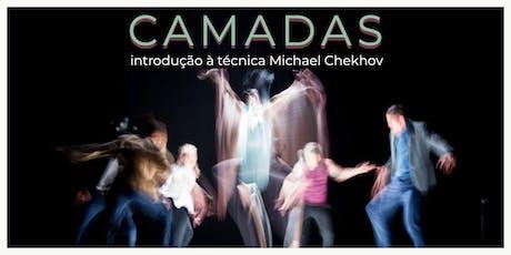 Workshop Camadas - Uma introdução à técnica MICHAEL CHEKHOV tickets
