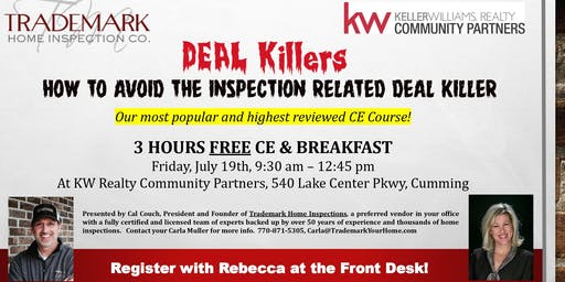 CE: How to Avoid the Inspection Related Deal Killer w/Trademark