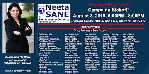 Neeta Sane for Tax Assessor-Collector Campaign Kickoff
