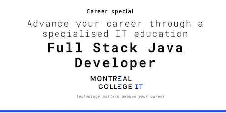 Career pathway program in Java Full Stack Developer tickets