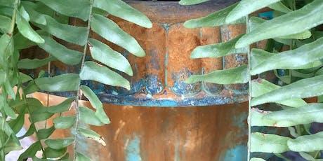 patina'd urns {reactive paints + jolie} tickets
