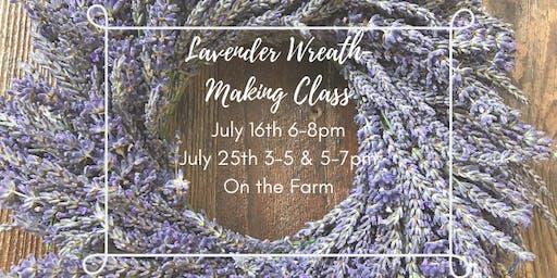 Lavender Wreath-Making at Wayward Winds