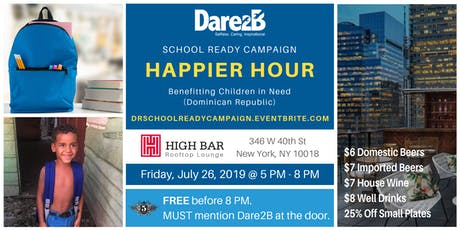 Dare2B Rooftop Happier Hour - School Ready Campaign tickets
