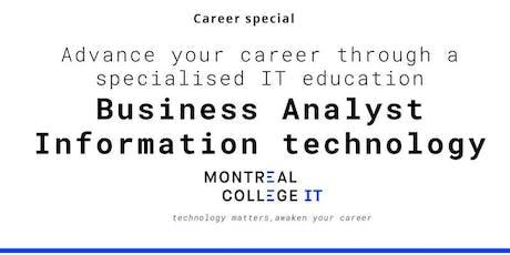 Career pathway program Business Analyst  IT  tickets