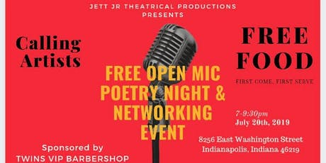 FREE OPEN MIC POETRY NIGHT & NETWORKING EVENT tickets
