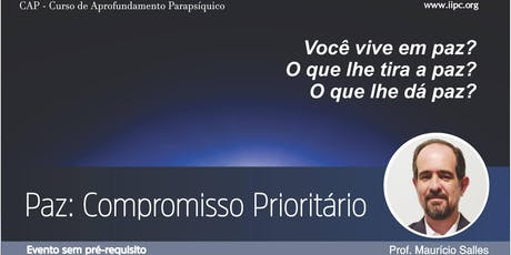 CURSO PAZ:COMPROMISSO PRIORITÁRIO ingressos