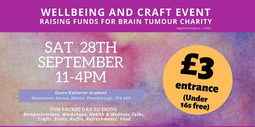 Wellbeing And Crafting Event In Aid Of Brain Tumour Charity