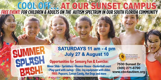 SUMMER SPLASH BASH EVENT, FREE FOR CHILDREN AND ADULTS ON THE AUTISM SPECTRUM